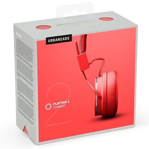 Urbanears - Plattan II Headphone # Tomato Red