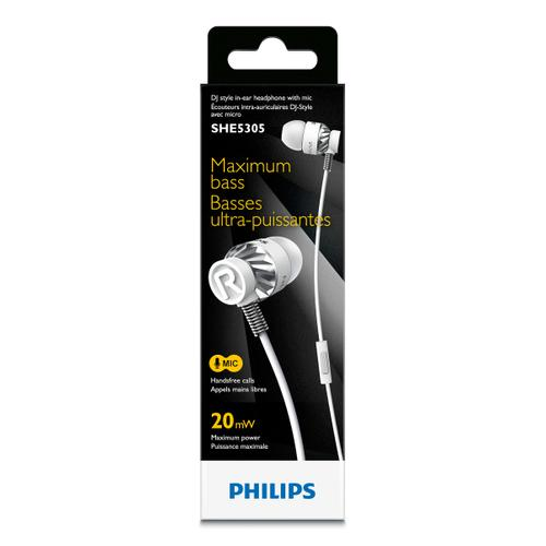 Philips in-ear headphones SHE5305WT/00 including microphone(2)