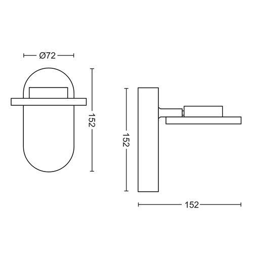 Philips 5044111P0 - Glisette Spot