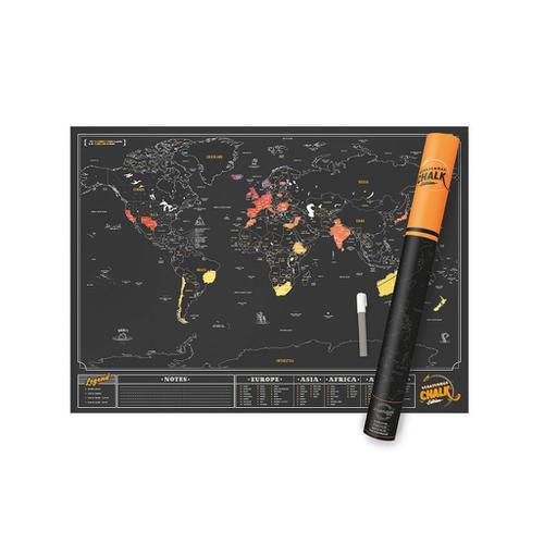 Scratch Map Chalk Edition