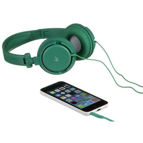 002022 Kitsound Over-Ear Headhones with Mic. & Multi func. groen