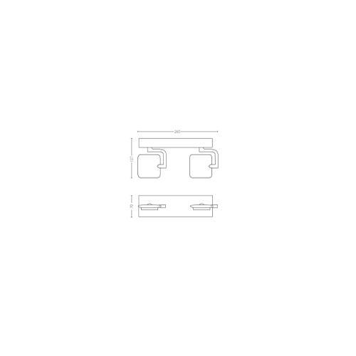 Philips 5319248P0 - Millennium Bar 2 Spots