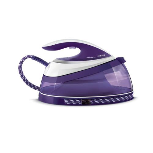 Philips PerfectCare Pure GC7642/35 1.5L T-ionicGlide soleplate Purple,White steam ironing station