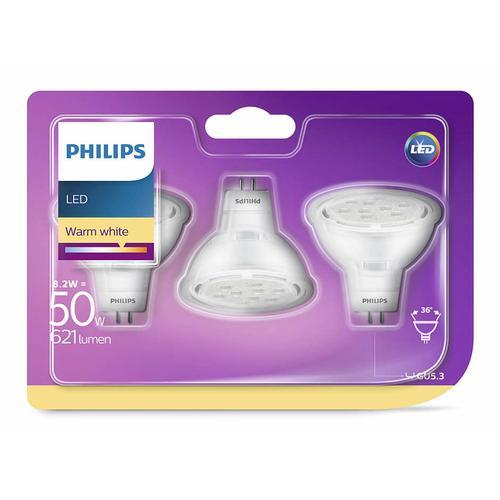 Philips 929001240586 - LED 50W GU5.3 - Set 3 pcs