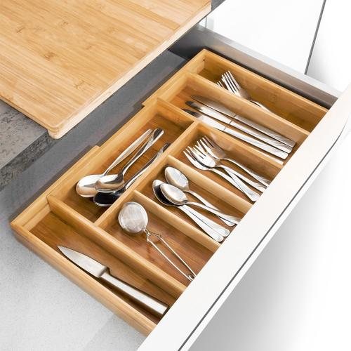 Adjustable Cutlery tray Bambus 37-48 cm